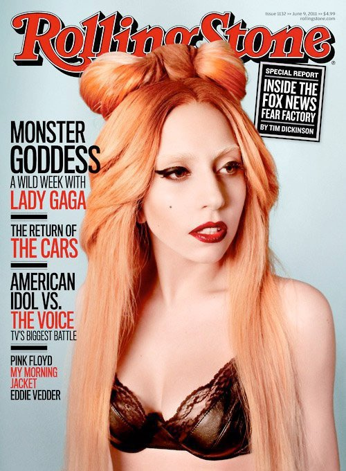 lady gaga 2011 hair. Lady Gaga Covers The New Issue