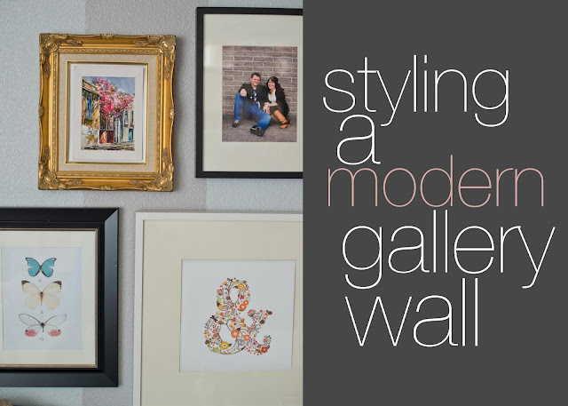 Styling a modern gallery wall