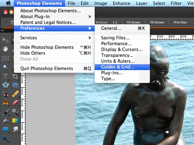 Drawing Lines In Photo Elements : Rmwillustration drawing grid in photoshop elements