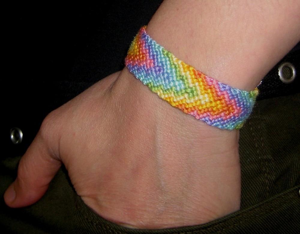 Bracelet bresilien couleur arc en ciel