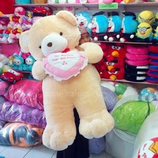 Boneka Teddy Bear-Beruang Jumbo Besar Cream