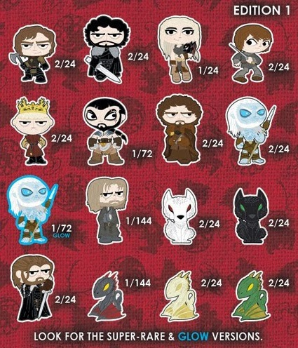 Game of Thrones Mystery Minis Blind Box Series Checklist and Ratios by Funko