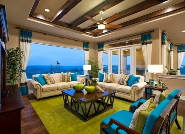 inspirasi desain ruang tamu warna warni