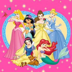 Las princesas de disney, Ariel, Aurora, Cenicienta, Mulán, Pocahontas,