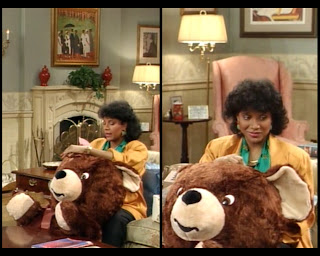 Cosby Show Huxtable fashion blog 80s sitcom Clair Phylicia Rashad pregnant teddy bear