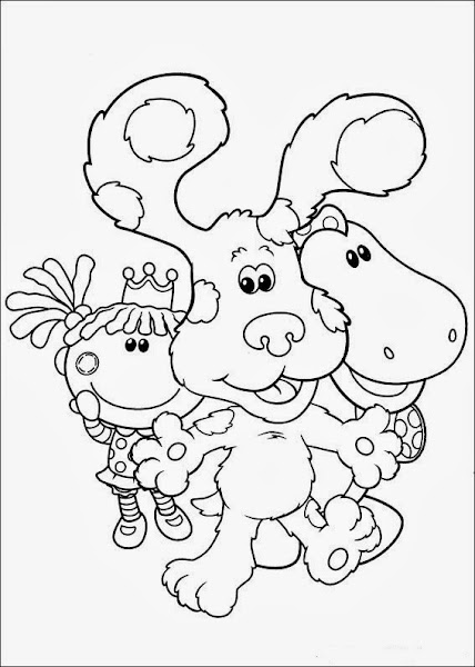 A day at the beach coloring pages for Blue clues coloring pages