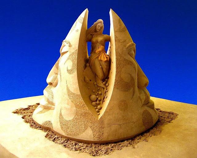 Esculturas de arena de Joo Heng Tang