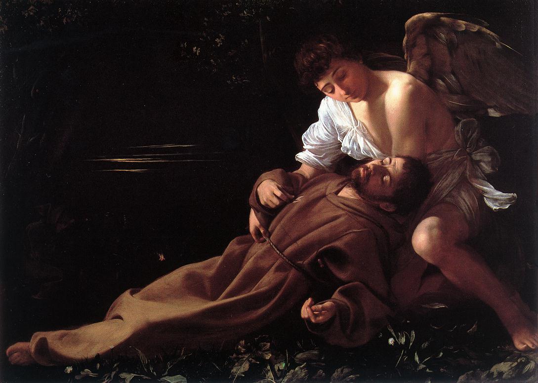 caravage saint francis painting