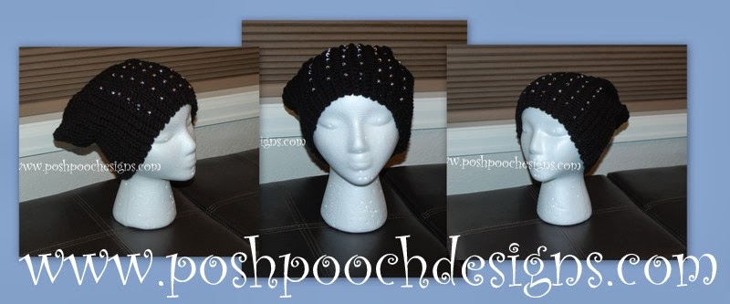 Crochet Hat Patterns With Beads : Posh Pooch Designs Dog Clothes: Beaded Slouchy Hat Crochet ...