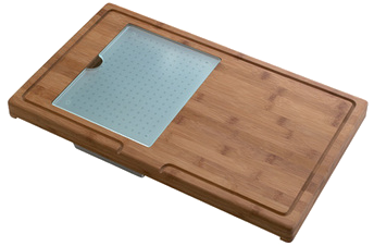 tabla corte escurridor fregadero waterfall cristal bambú