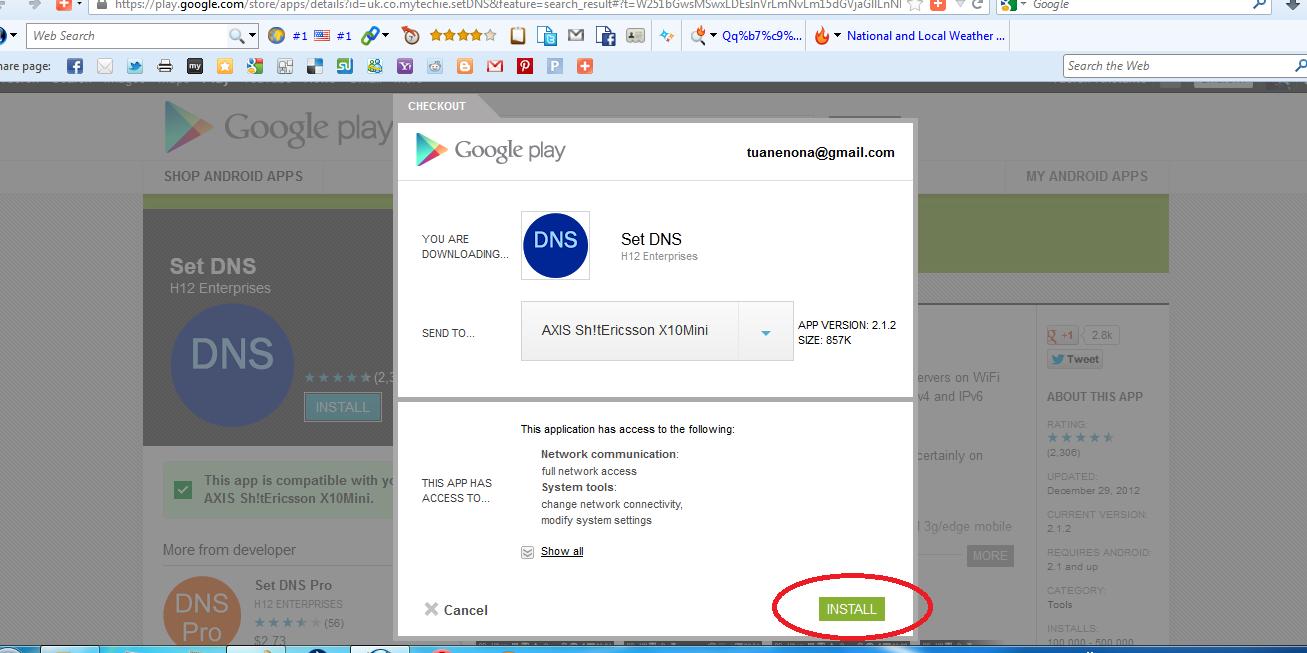 DNS, Set DNS, Google Play