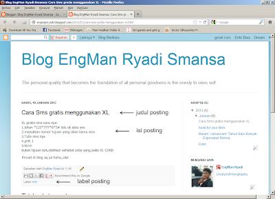 posting blogspot