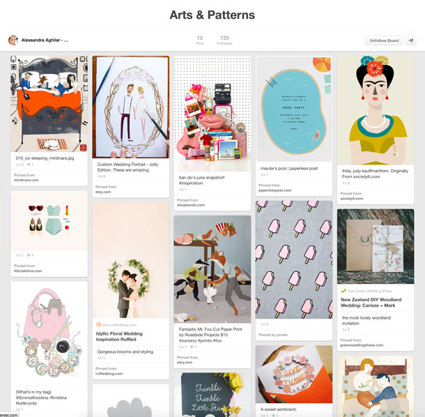 Arts & Pattern pinterest board
