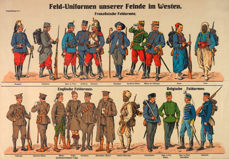French Uniforms WW1