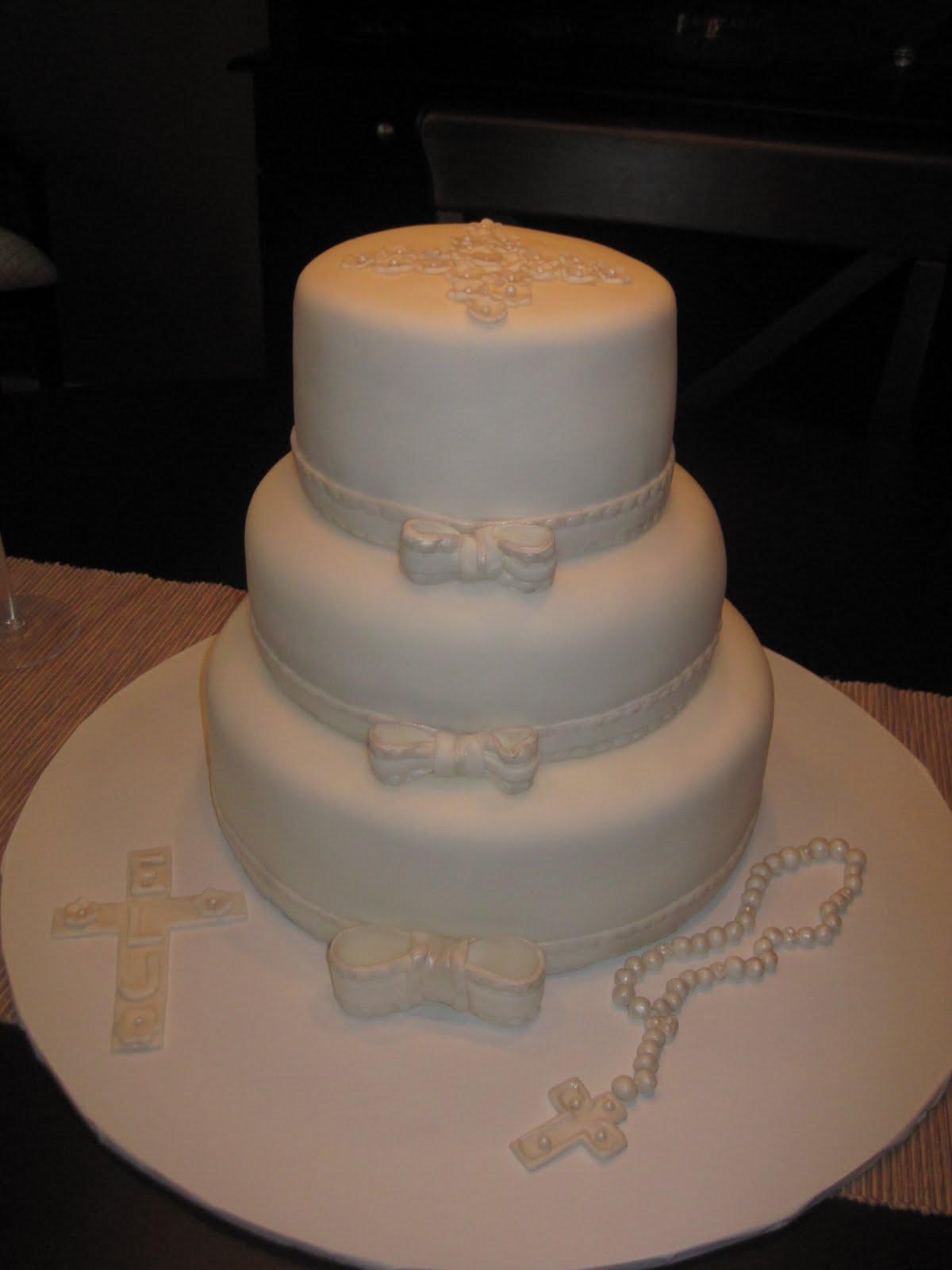 fondant communion cake