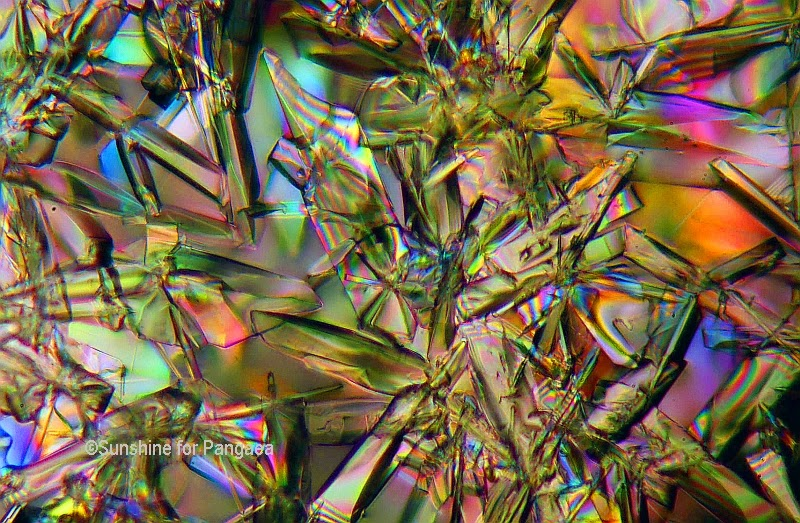 Sodium hydroxide under the microscope
