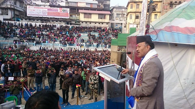 Kalimpong MLA Harka Bahadur Chhetri welcomed in Klimpong after district announcement