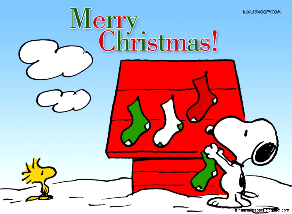 Snoopy Christmas Peanuts Cartoon Full HD Image Wallpaper for iPad