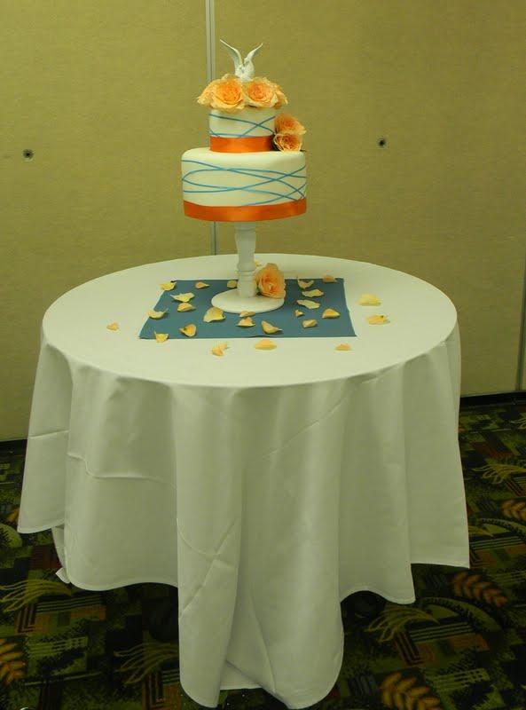 Teal And Orange Wedding Cake Elise S Sweet Creations