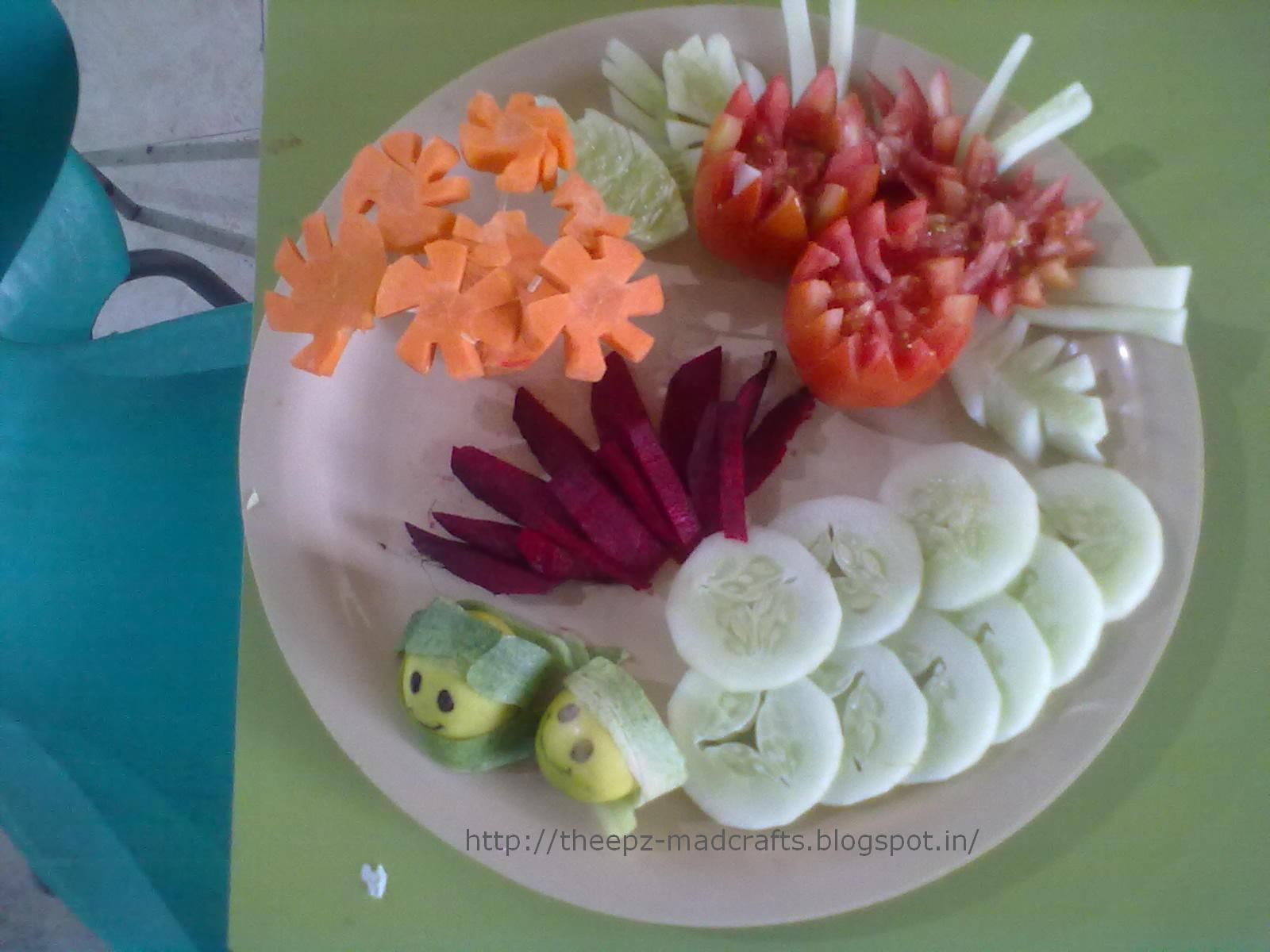 Theepz crafts simple vegetable carvings