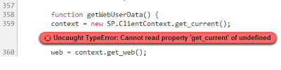 Uncaught TypeError: Cannot read property 'get_current' of undefined