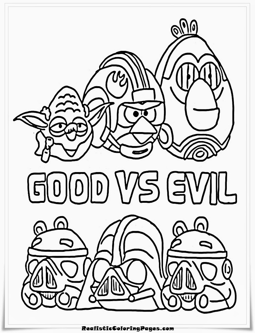 Download Angry Birds Star Wars Coloring Pages