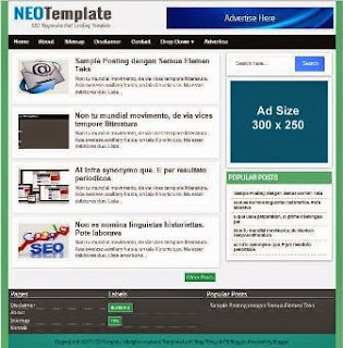 NEO Template - Super Fast Loading, Responsive, Simple