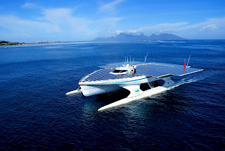 Turanor PlanetSolar catamaran in Tahiti
