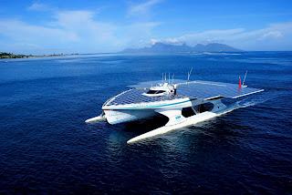 Turanor PlanetSolar catamaran in Tahiti