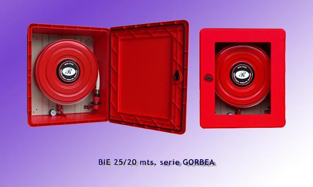 Boca de incendio bie-25 en PVC inoxidable serie GORBEA