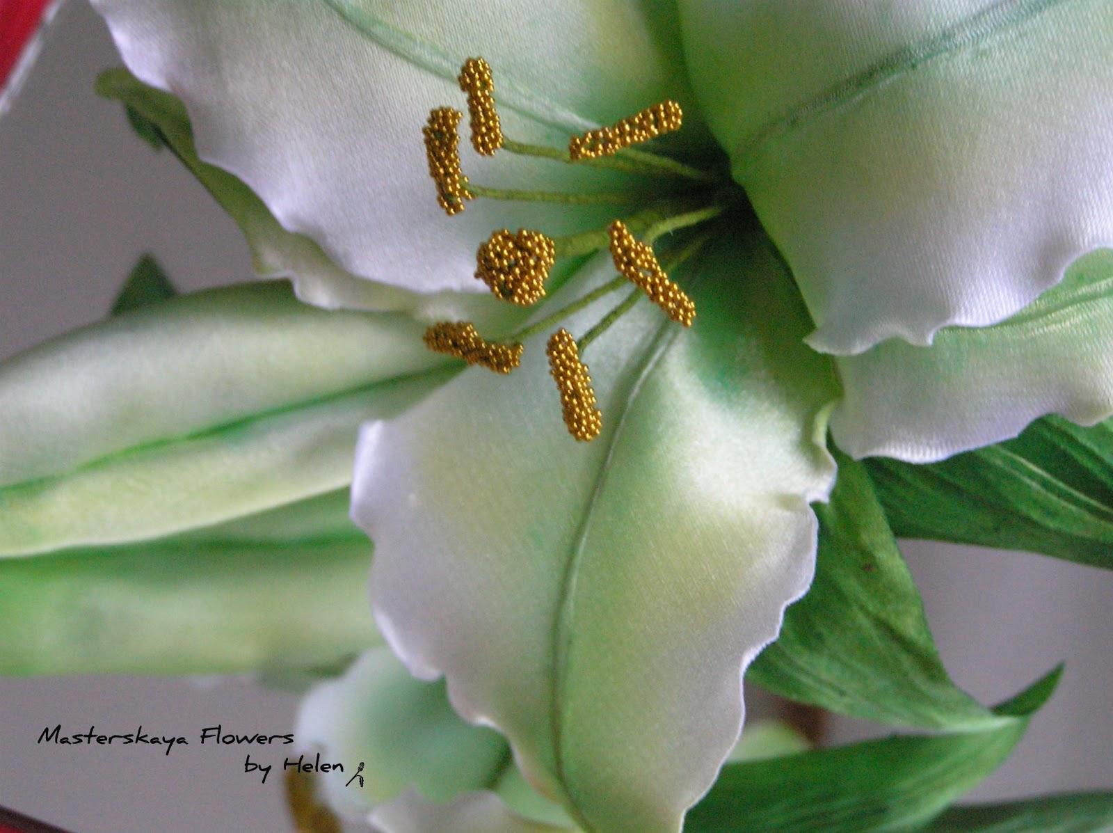 Цветы из ткани своими руками лилии