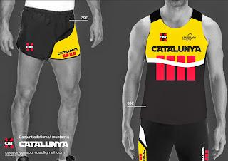Samarreta atletisme catalunya i pantalons catalunya equipacions catalunya