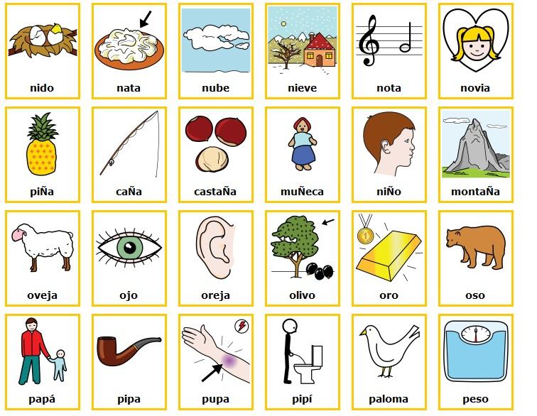 Nombres de objetos con o - Imagui