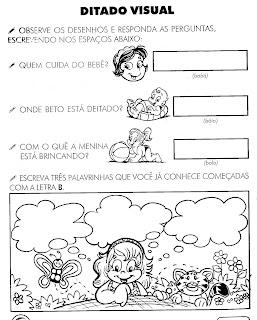 JARDIM COLORIDO DA TIA SUH: Atividades com a Letra B