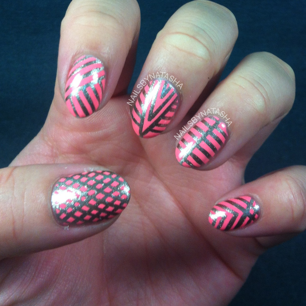 Nail Designs With Striping Tape: Nails By Natasha: First Striping Tape Designs