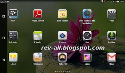 Contoh tampilan horizontal aplikasi Simple Control - aplikasi tambahan tombol navigasi untuk android tablet (rev-all.blogspot.com)