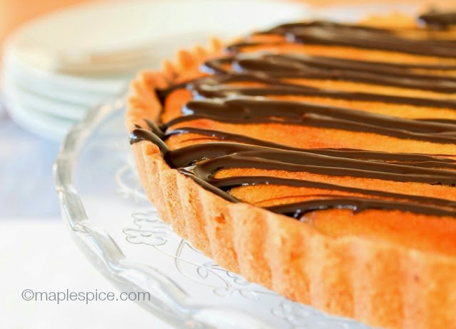 Vegan Dark Chocolate Orange Tart