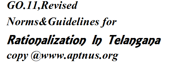 GO.11 ,Revised Norms& Guidelines for Rationalization