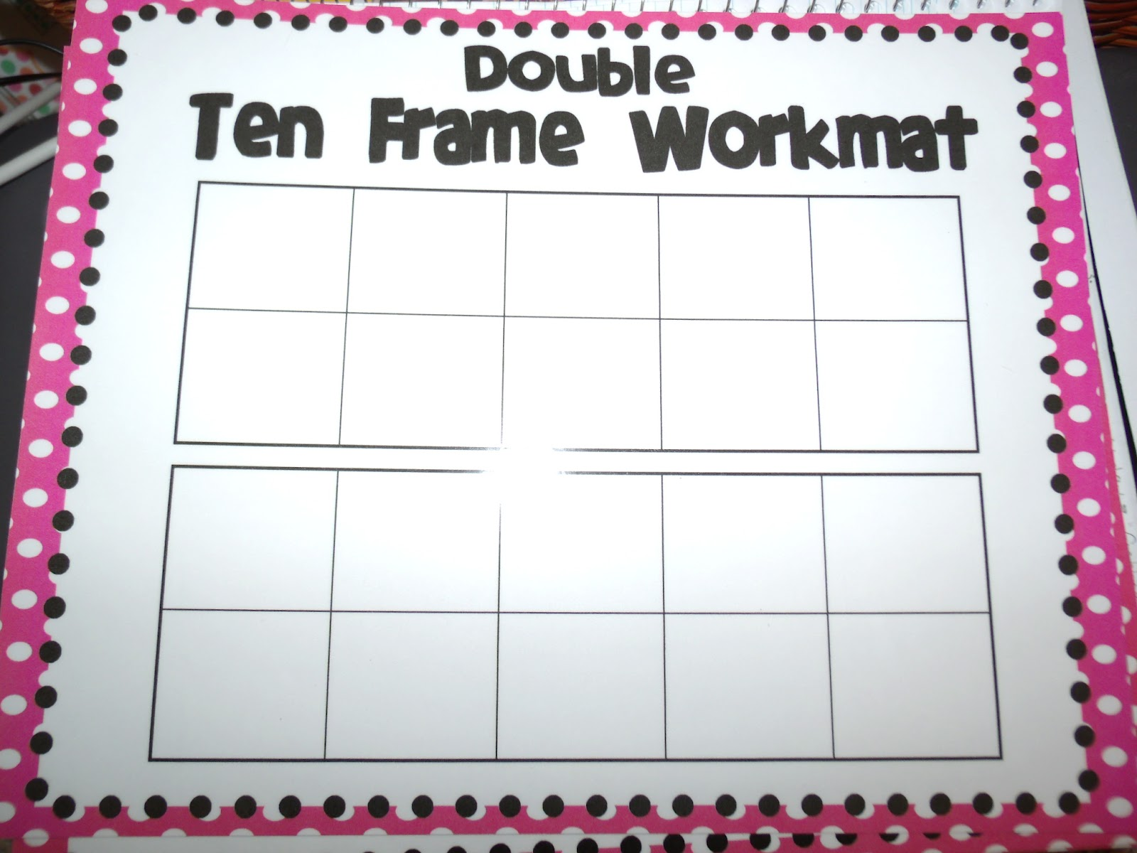 Shocking image within double ten frame printable
