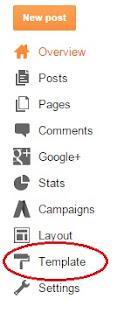 menu template blogger