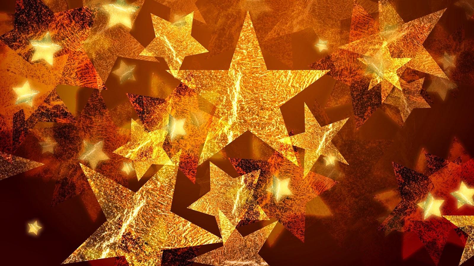 Fondo de pantalla navidad estrellas doradas fondo - Imagenes de corazones navidenos ...
