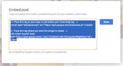 फेसबुक, ट्विटर, गुगल प्लसवर वापरा एम्बेड (Embed)  सुविधा