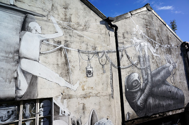 Street Art Collaboration By Phlegm And Run For Empty Walls Urban Art Festival 2013 In Cardiff, Wales. 1