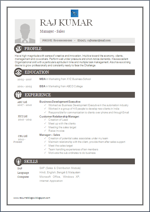 resume blog co  one page excellent resume sample for mba