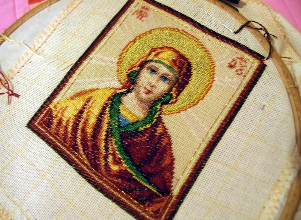 гоблен малка Богородица - Покров Богородичен