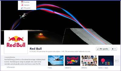 Twitter Red Bull información contenido multimedia