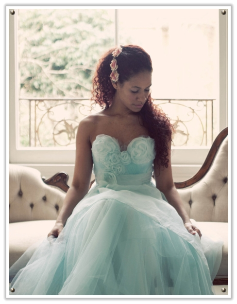 Would you take a chance on a powder blue dress for your wedding day