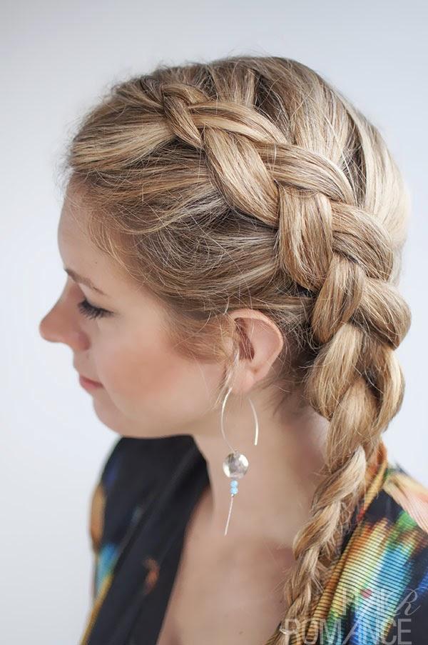 Peinados con trenzas cabello corto suelto