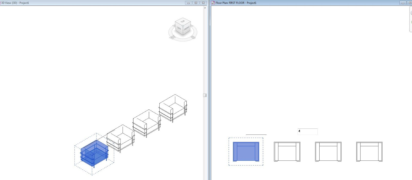 how to create array in revit