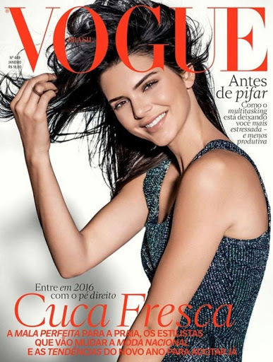 Kendall Jenner Vogue magazine Brazil January 2016 photos